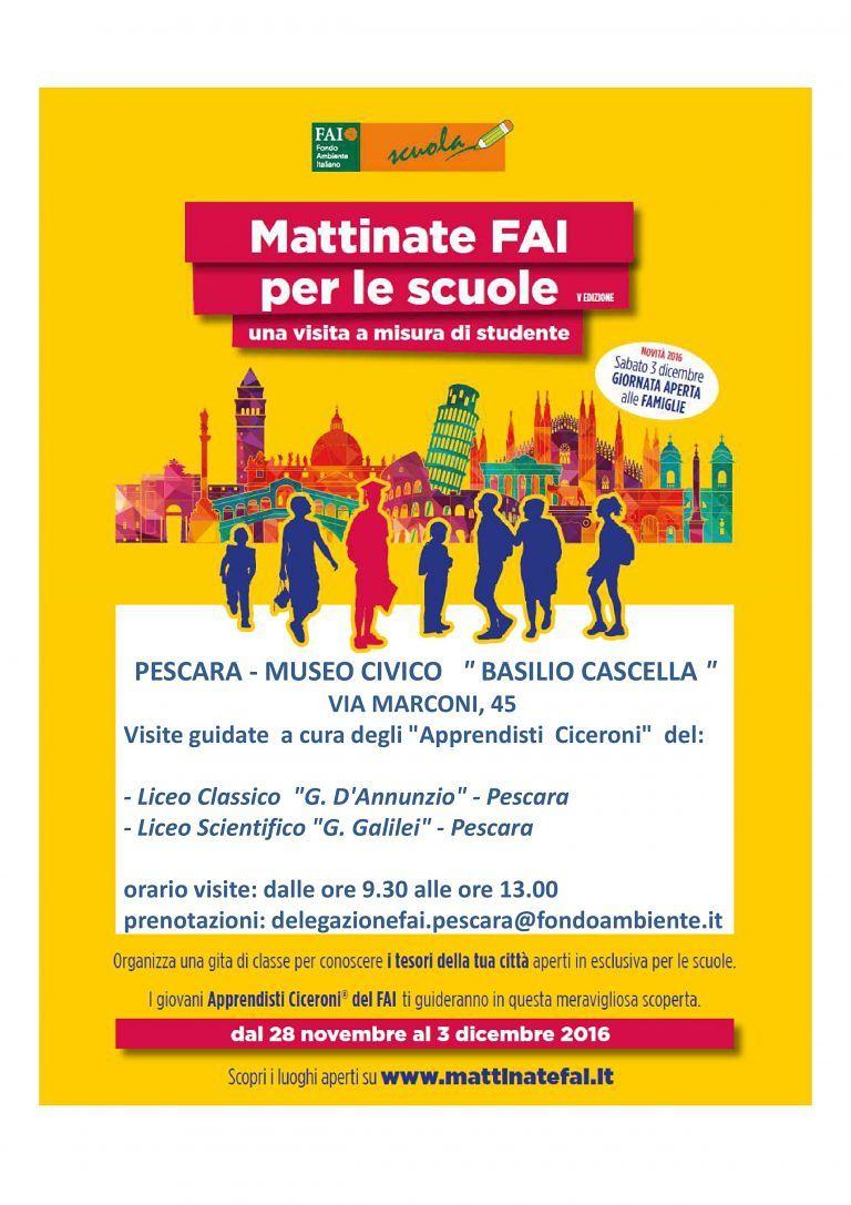 Pescara, il museo Cascella apre le porte alle scuole: visite gratuite per le classi