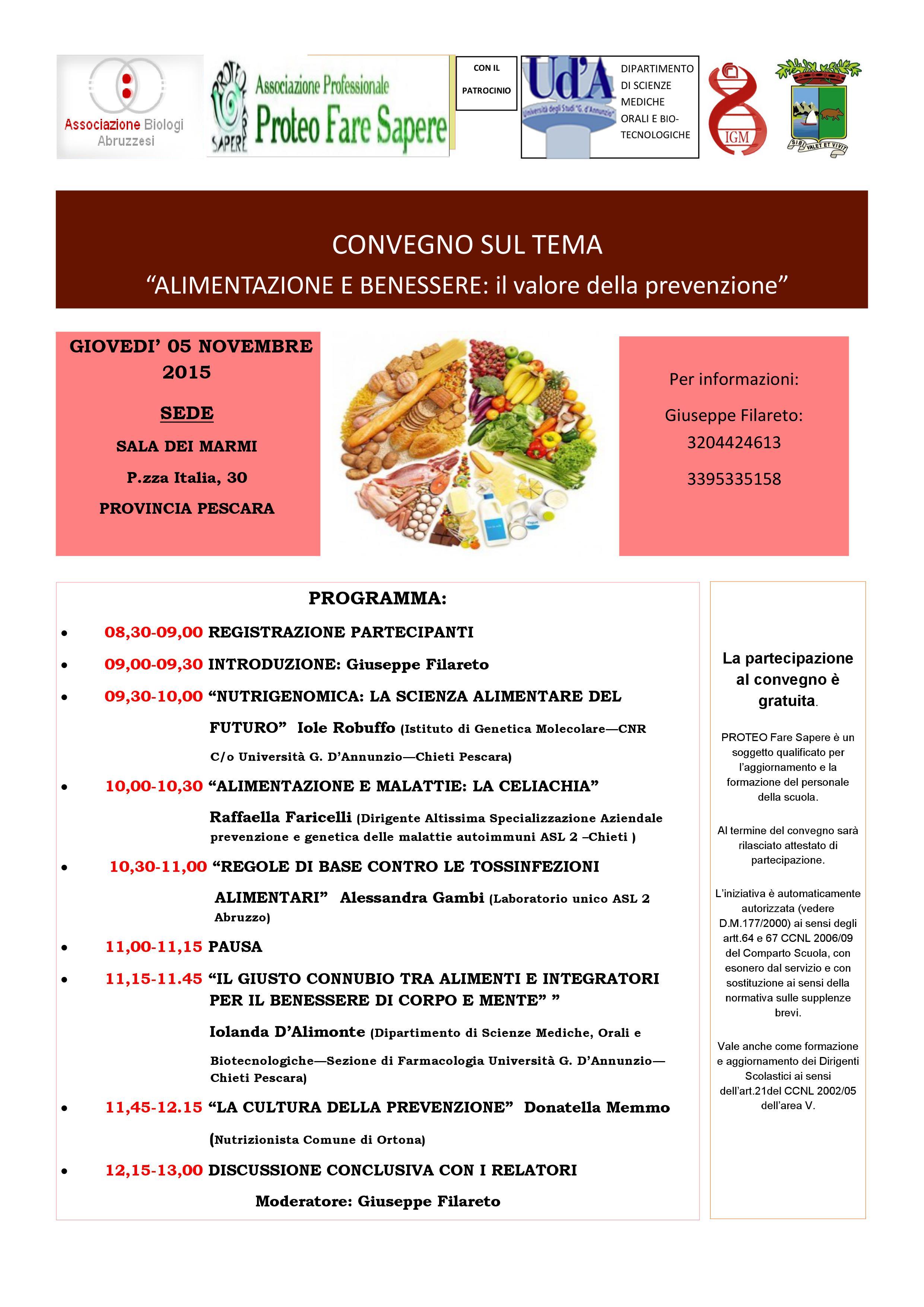 Pescara La Salute Inizia A Tavola Il Convegno Su Alimentazione E Prevenzione Ultime Notizie Cityrumors It News Ultima Ora