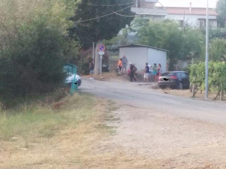 Mosciano, incidente auto-furgoncino al Convento FOTO