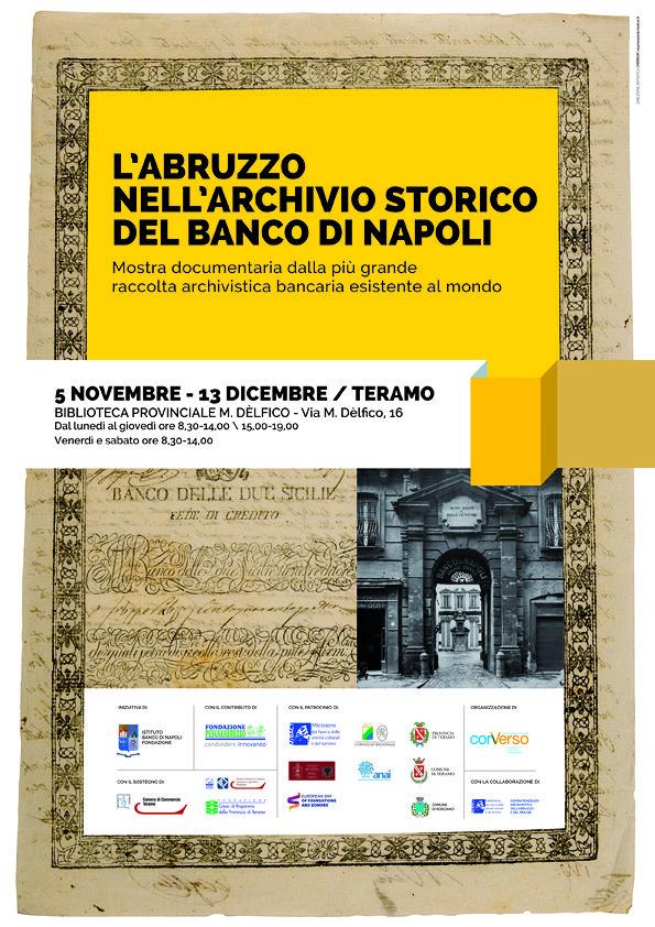 L'Abruzzo nell'archivio storico del Banco di Napoli in mostra a Teramo