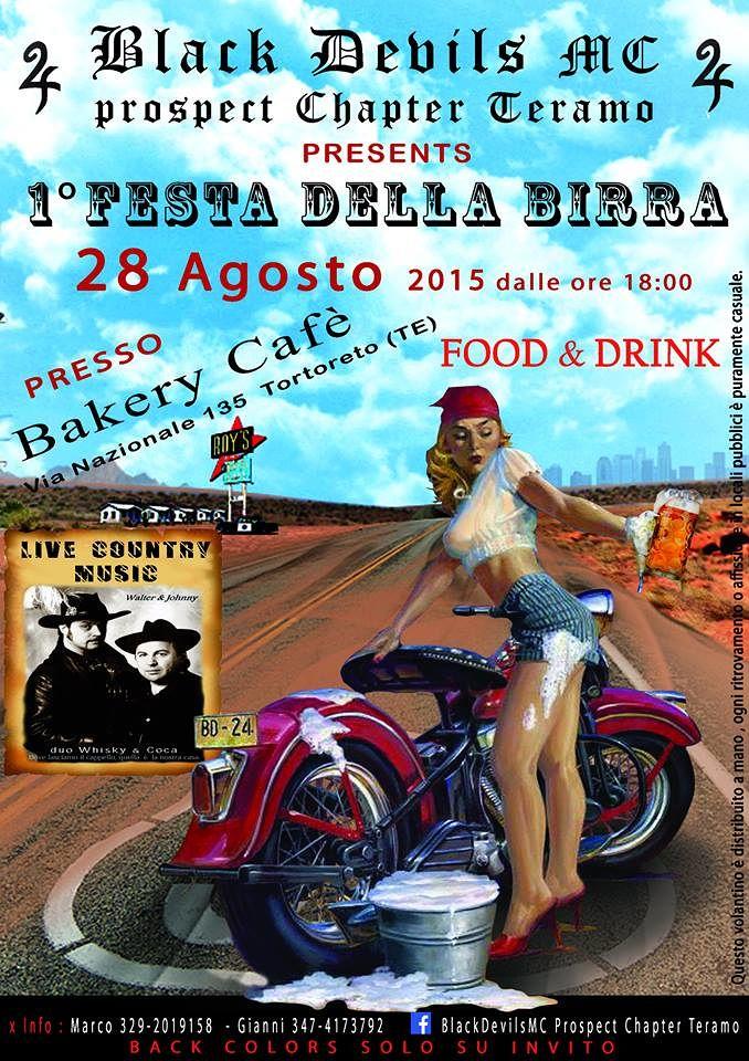 Bakery Cafè Tortoreto – Venerdì 28 Agosto, festa della birra con musica country –  Tortoreto