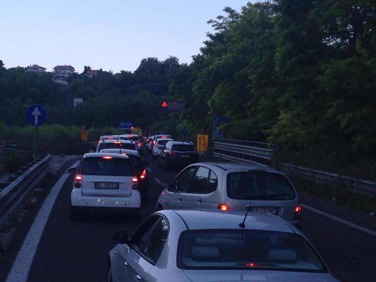 Pescara, lavori sulla circonvallazione: traffico in tilt