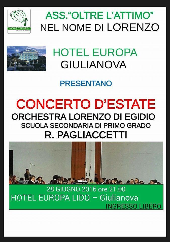 Giulianova, Concerto d'estate dell'orchestra Lorenzo Di Egidio