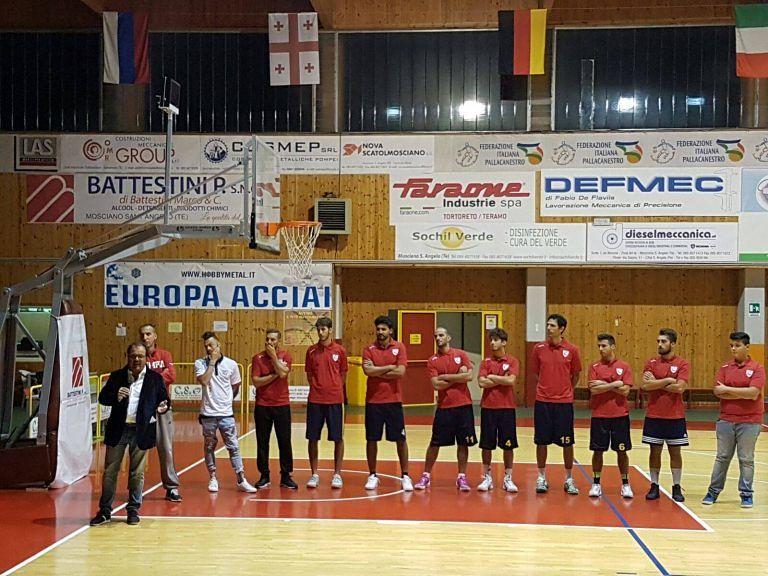 Basket, presentata l'Olimpia Mosciano: grandi ambizioni anche in C Silver