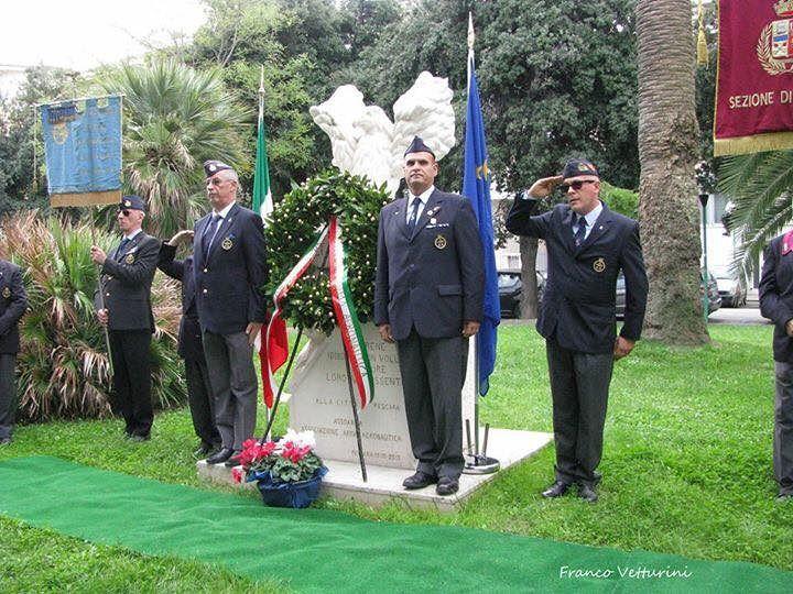 Pescara, cerimonia di commemorazione ai Caduti dell'Aeronautica