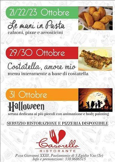 Fine ottobre in bellezza da Don Casorello, super eventi | 21-31 ottobre| Sant'Egidio alla Vibrata