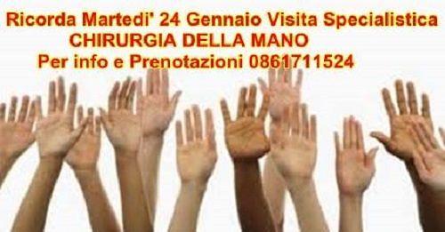 Chirurgia della mano, il Dottor Marcello Marcialis al Diagnostic Center – martedì 24 gennaio| Martinsicuro