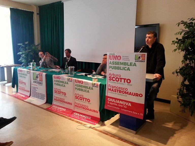 Giulianova, Mastromauro e Scotto spiegano i punti cardine di Articolo 1-MDP