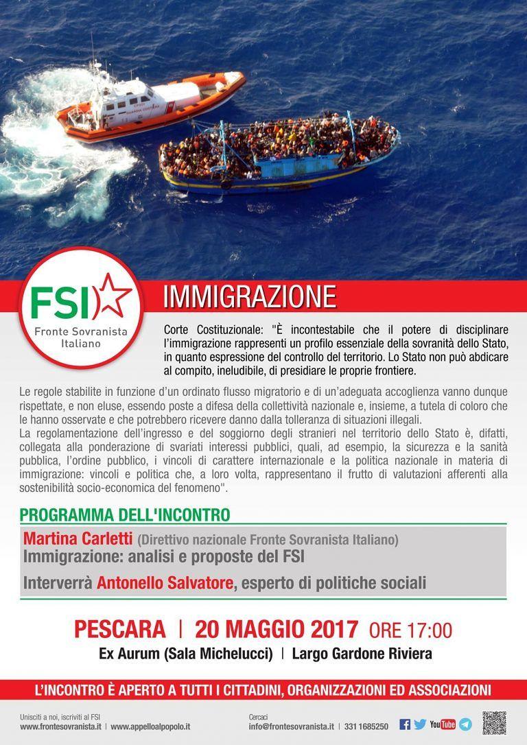 Pescara, immigrazione: al via il convegno di Fsi