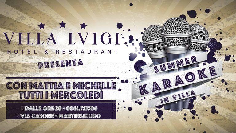 Hotel Villa Luigi: Karaoke e Finale di Coppa Italia | Villa Rosa di Martinsicuro
