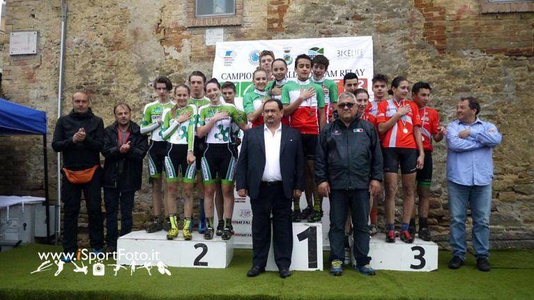 Silvi, alla Valle d'Aosta la staffetta giovanile di Mountain Bike
