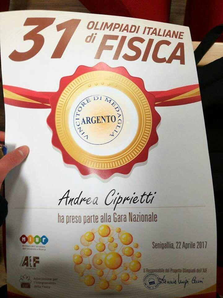 Giulianova, studente Liceo vince l'argento alle Olimpiadi di Fisica