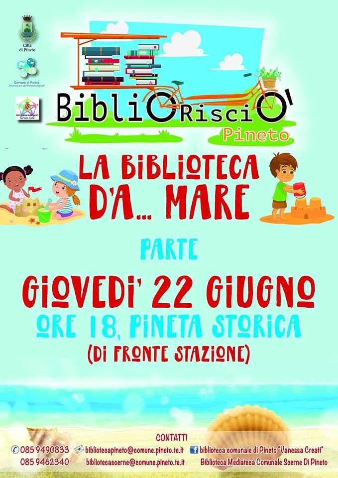 Pineto, al via il BiblioRisciò: biblioteca itinerante per bambini