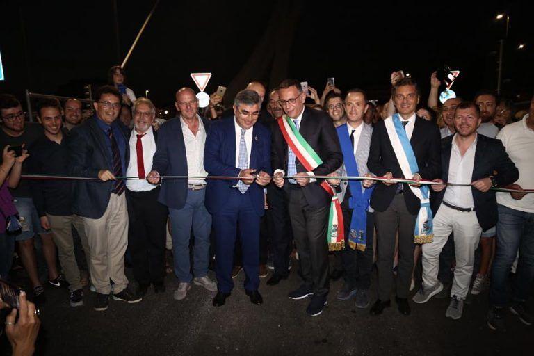 Pescara, il taglio del nastro del Ponte Flaiano VIDEO
