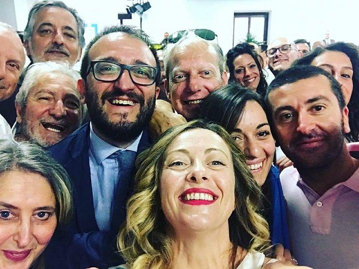 L'Aquila, Meloni in città per festeggiare Biondi: 'Trionfo storico' VIDEO