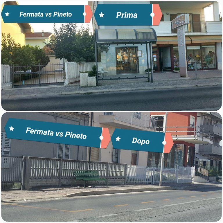 Pineto, polemica per le 'nuove' fermate dell'autobus a Scerne FOTO