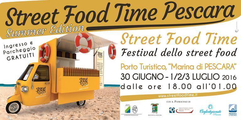 Pescara, torna lo Street food time
