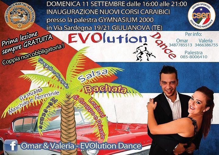 Nuovi corsi caraibici da Evolution Dance – Inaugurazione domenica 11 settembre  Giulianova
