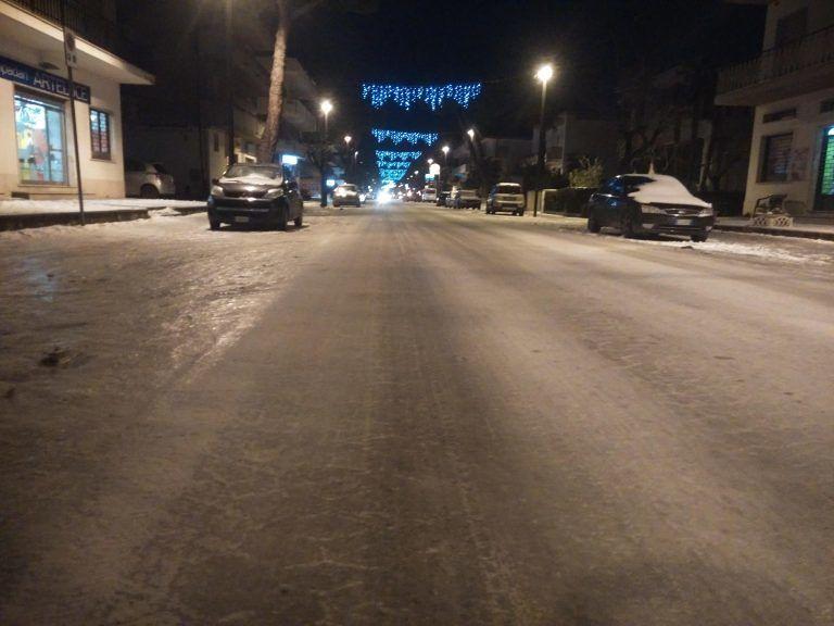 Emergenza neve e ghiaccio, Alba Adriatica non era pronta: la polemica