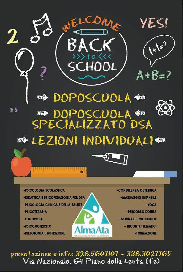 Alma Alta Welcome Back to School: doposcuola, lezioni individuali, doposcuola specializzato DSA| Teramo