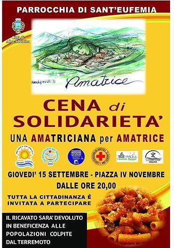 Alba Adriatica, cena pro-terremotati in piazza IV Novembre: successo oltre le previsioni
