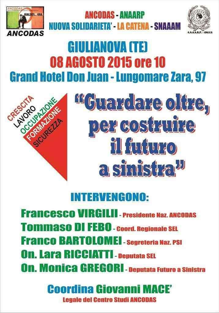 Giulianova, assemblea pubblica sul futuro della Sinistra in Italia
