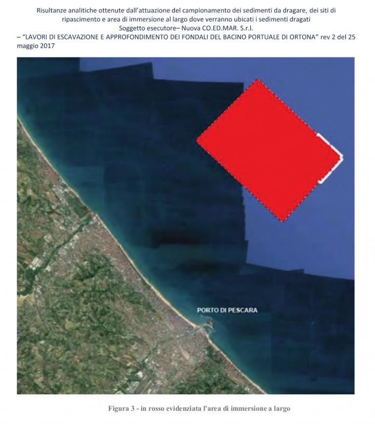 Dragaggio Porto Ortona, 342.694mc di sedimenti in mare tra Pescara e Montesilvano