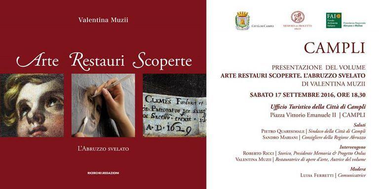 Campli,l'Abruzzo svelato: all'ufficio turismo la presentazione del libro di Valentina Muzii