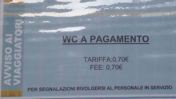 Pescara, si torna a pagare per i bagni della stazione