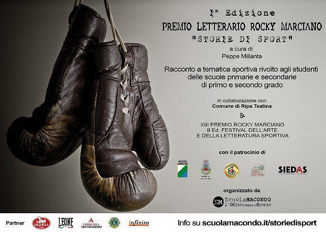 Ripa Teatina, indetto il Premio Letterario Rocky Marciano 'Storie di Sport'