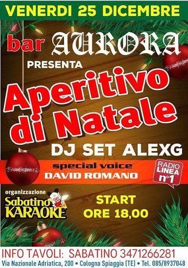 Bar Aurora & Sabatino Karaoke presentato l'Aperitivo di Natale | Cologna Spiaggia (Roseto)