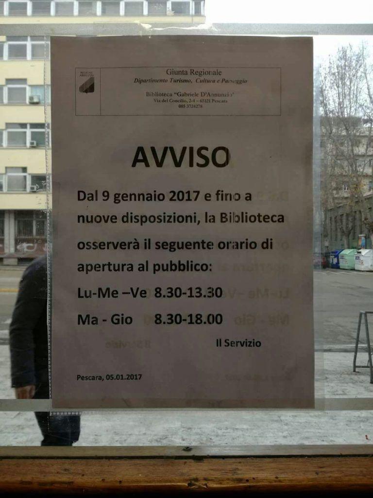 Disagi per le ex biblioteche provinciali in tutto l'Abruzzo