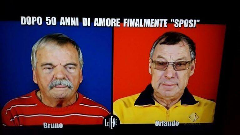Pineto, Bruno e Orlando a Le Iene: il 'matrimonio' dopo 52 anni d'amore