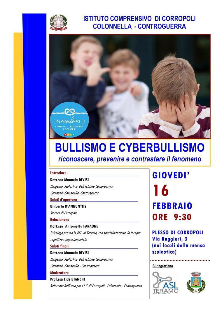 Bullismo e cyberbullismo: incontro formativo nella scuola di Corropoli
