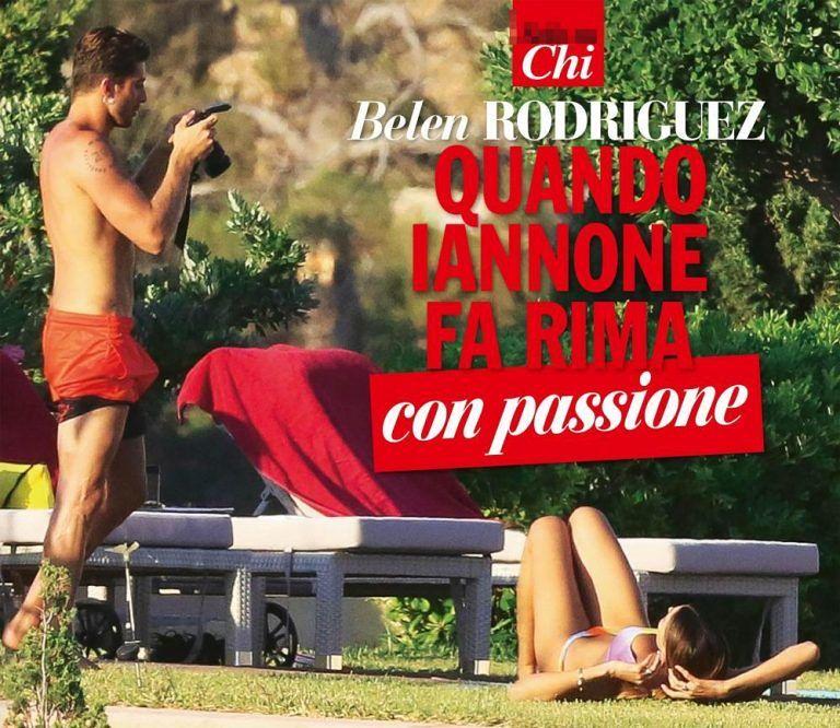 """Andrea Iannone guarda """"emozionato"""" Belen FOTO"""