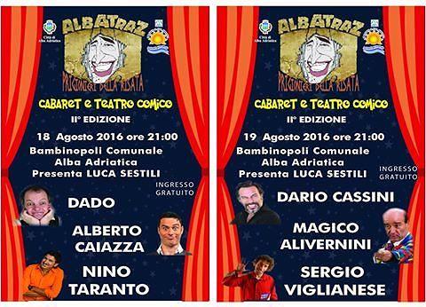 Albatraz, prigionieri della risata: doppio appuntamento alla Bambinopoli di Alba