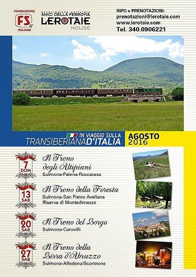Estate in viaggio sulla Transiberiana d'Italia, cinque appuntamenti in programma
