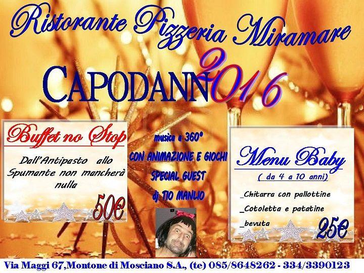 Il Capodanno 2016 targato Ristorante Miramare | Montone di Mosciano Sant'Angelo