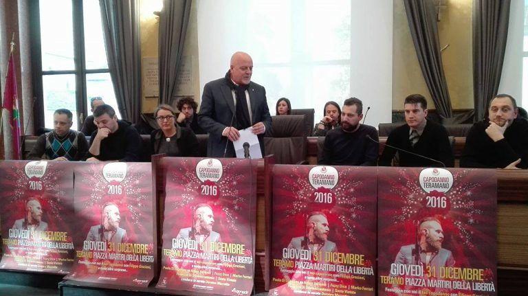 Teramo, presentato il Capodanno: Filippo Graziani e tante sorprese