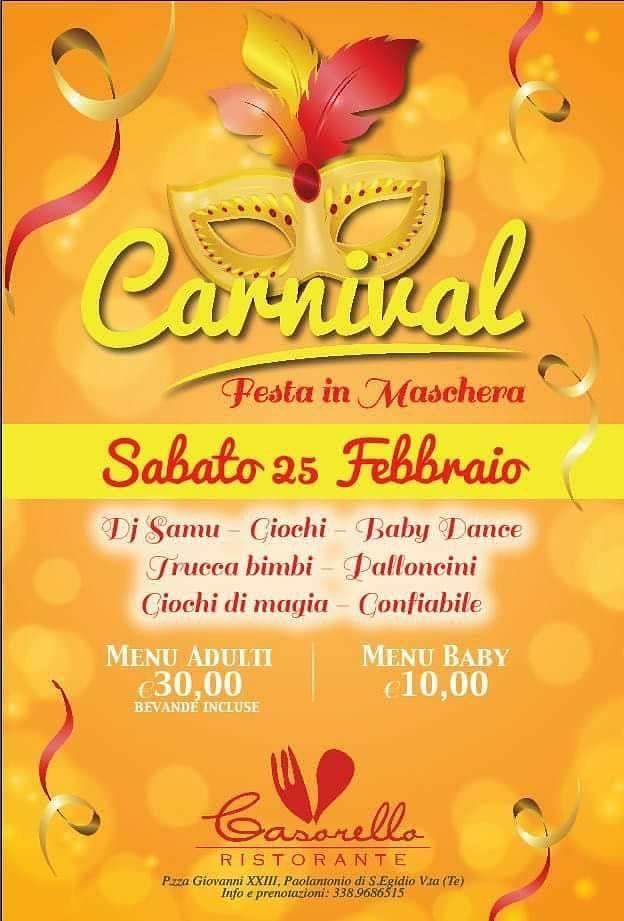 Festa in maschera al ristorante Don Casorello | Sant'Egidio alla Vibrata