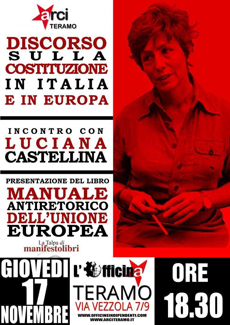Teramo, Luciana Castellina in città per parlare di Costituzione