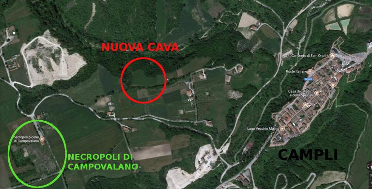 Campli, il progetto di una nuova cava a ridosso della necropoli di Campovalano
