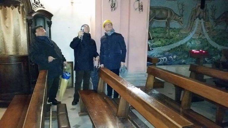 Roseto, transennata e ispezionata la chiesa di Maria SS dell'Assunta (FOTO)
