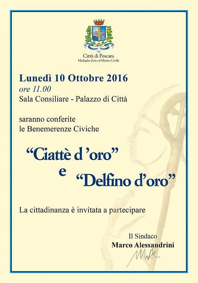 Cerimonia di San Cetteo: riconoscimento speciale anche a Pescara del Tronto