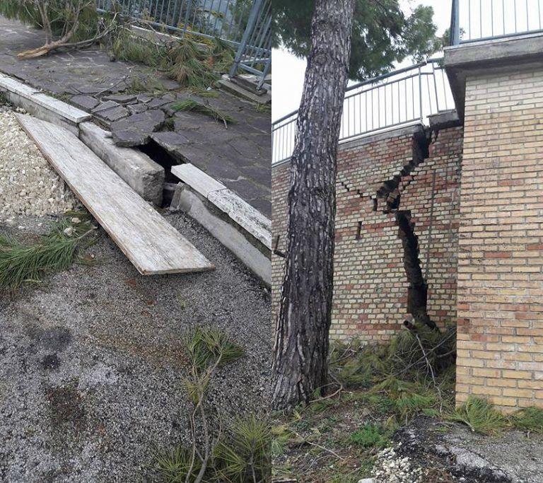 Canzano, crepe nei muri e marciapiedi distrutti FOTO