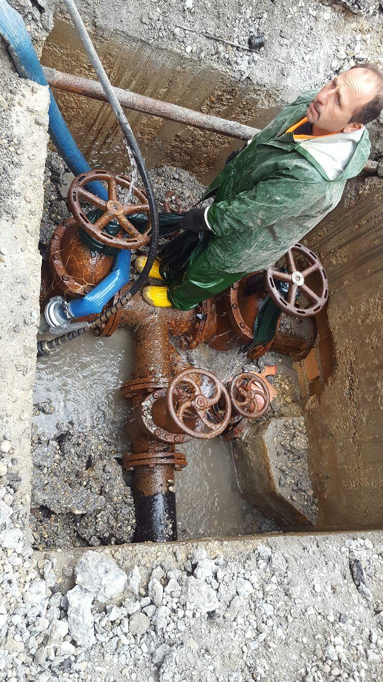Spoltore, niente acqua per lavori a  Frascone