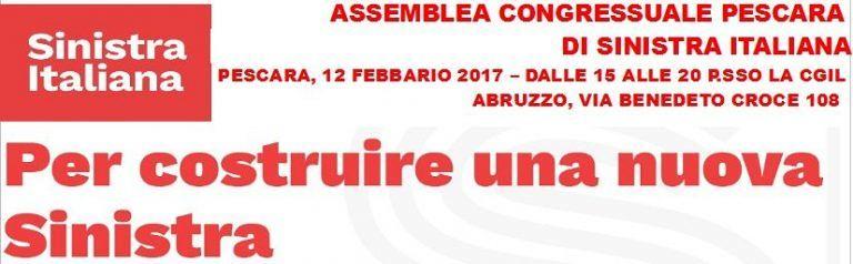 Pescara, Sinistra Italiana: presentazione del programma