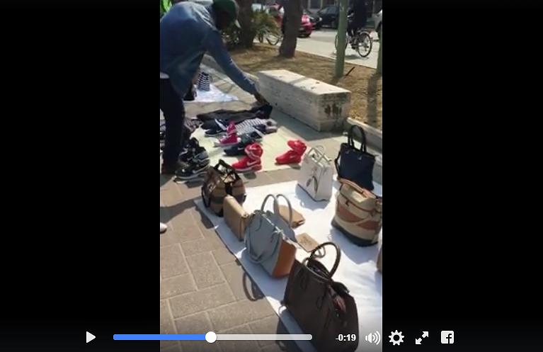 """Pescara, riviera invasa dalla contraffazione ma """"i vigili sono alla partita"""" VIDEO"""