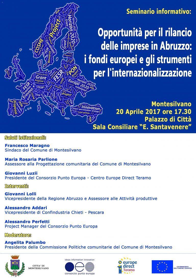 Fondi europei: a Montesilvano un convegno sulle opportunità per le imprese