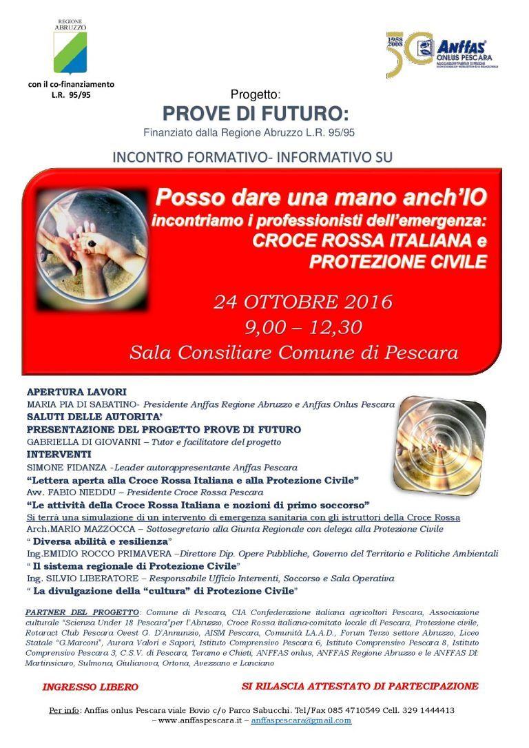 Pescara, Protezione Civile  e Croce Rossa presentano le attività